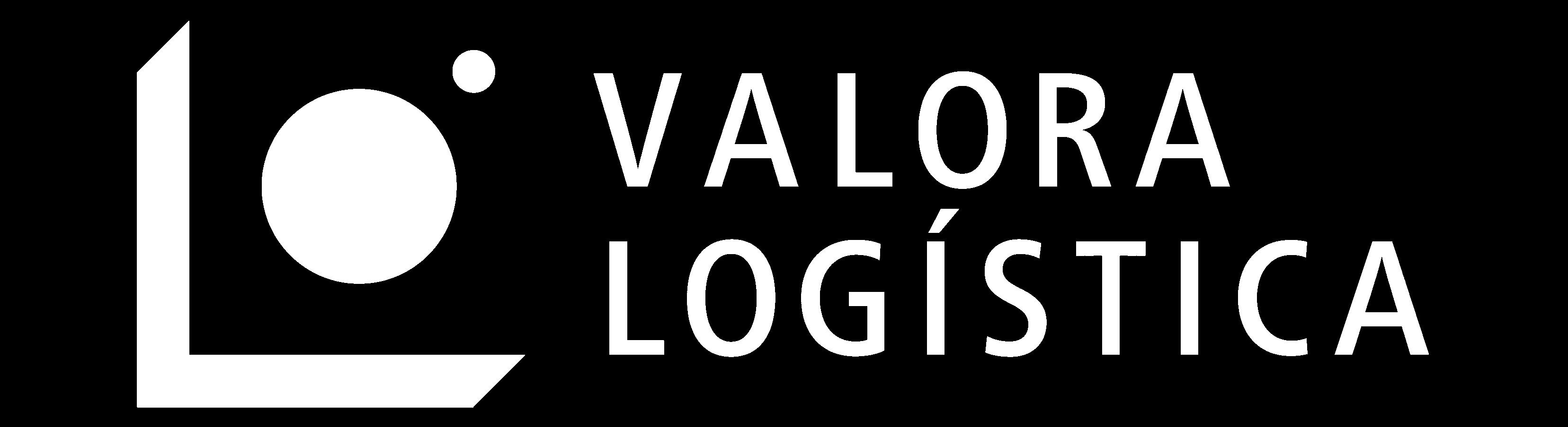 logo valora logística blanco