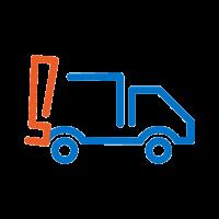 icono camión con signo de exclamación