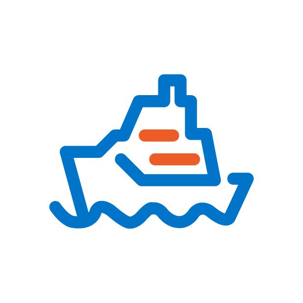 icono barco navegando