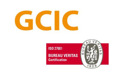 logo GCIC más logo certificación ISO 27001
