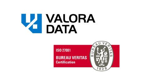 logo ValoraData y logo certificación ISO 27001