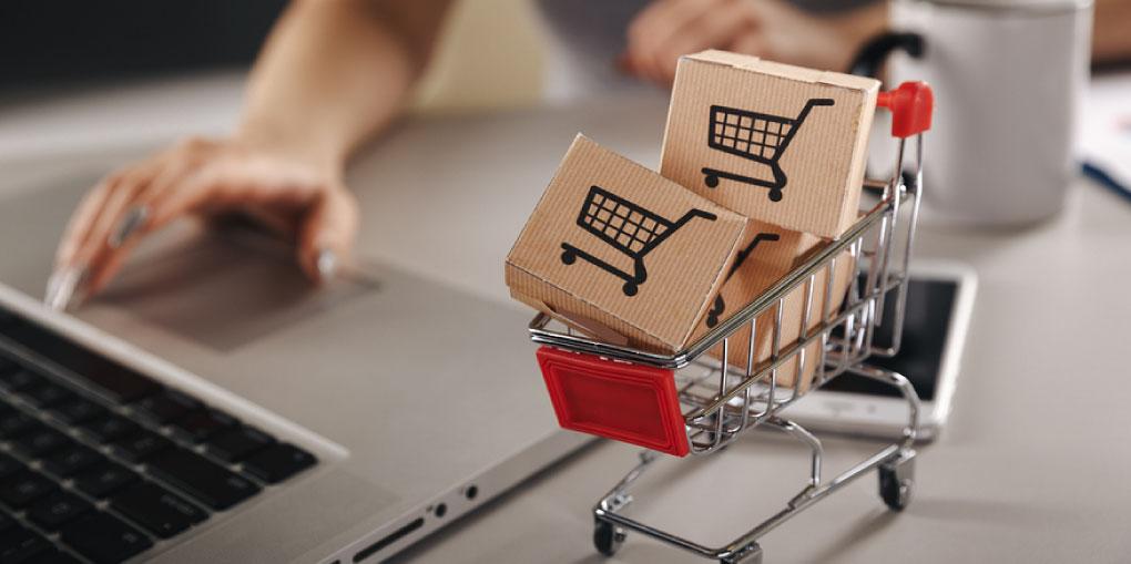 foto de carrito representando las compras por Internet