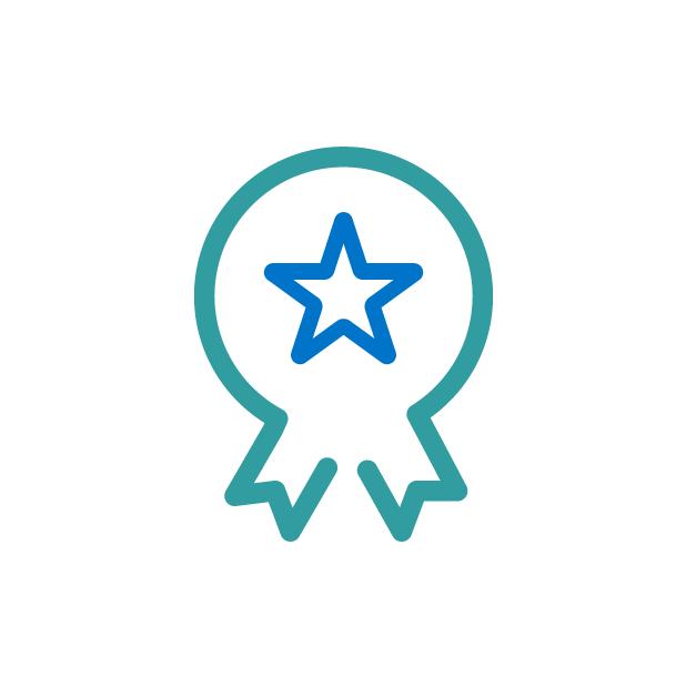 icono medalla con estrella
